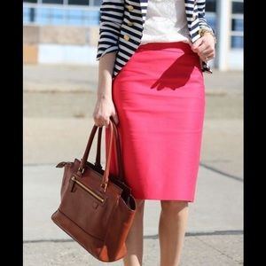 J. Crew Pencil Skirt in Coral Pink